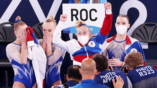 Российские девушки стали чемпионками Олимпиады вТокио. Фото Getty Images
