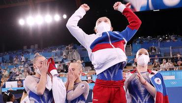 Женская сборная России поспортивной гимнастике выиграла золото Олимпиады впервые с1992 года
