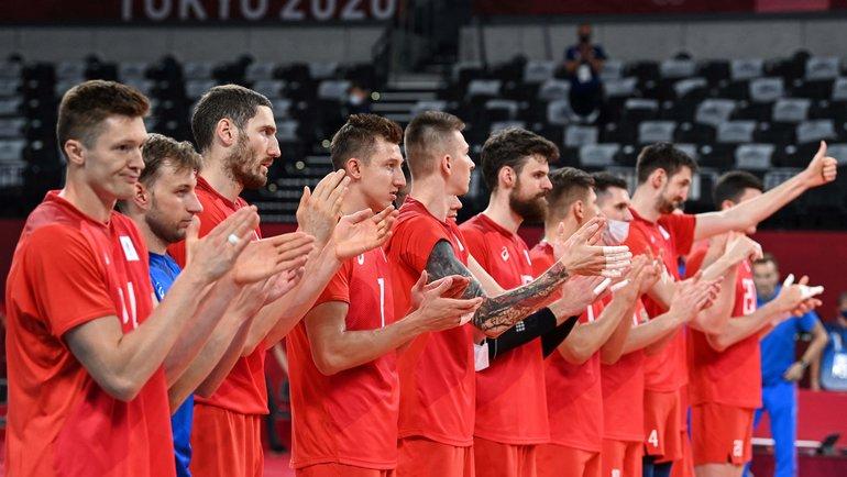 Волейболисты сборной России наОлимпиаде вТокио. Фото AFP