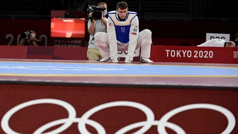 Владислав Ларин— олимпийский чемпион втхэквондо. Фото AFP
