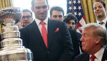 Александр Овечкин иего «Вашингтон» наприеме уДональда Трампа. Фото Getty Images