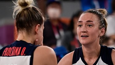 Ольга Фролкина иАнастасия Логунова. Фото AFP