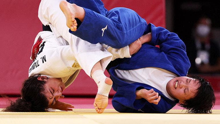 Полуфинальный поединок Мадины Таймазовой иТзицуру Араи. Фото Getty Images