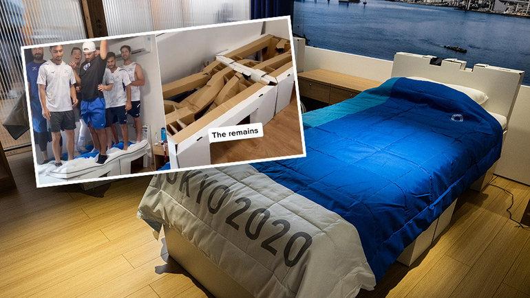 «Антисекс-кровати» волимпийской деревне. Фото Getty Images
