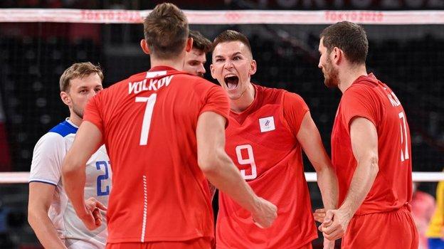 28июля. Токио. Россия— Бразилия— 3:0. Эмоции россиян после победы. Фото AFP