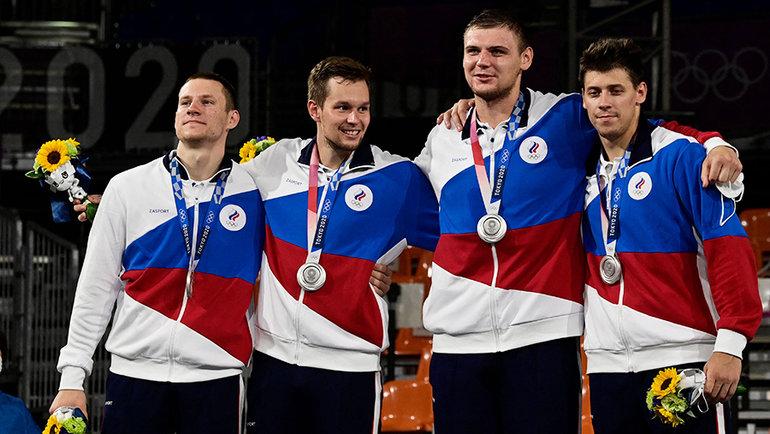 Российские баскетболисты. Фото AFP