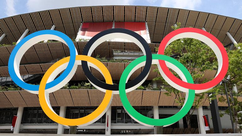 Олимпийские кольца вТокио. Фото Reuters