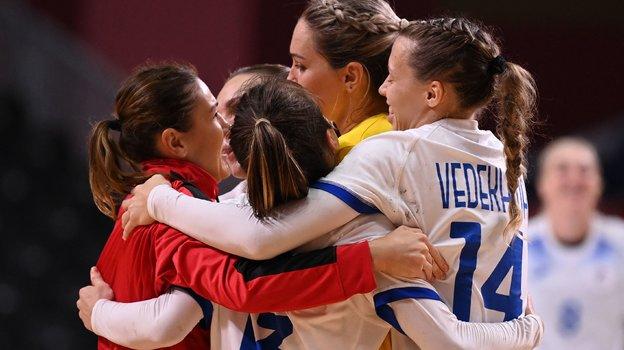 Женская сборная России погандболу. Фото AFP
