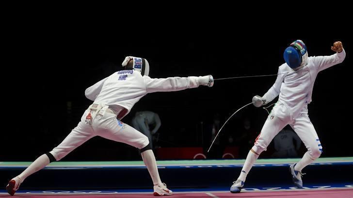 Российские шпажисты победили Италию вчетвертьфинале Олимпиады-2020. Фото Reuters