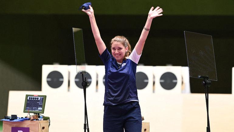 Виталина Бацарашкина завоевала второе золото Олимпийских игр вТокио. Фото AFP
