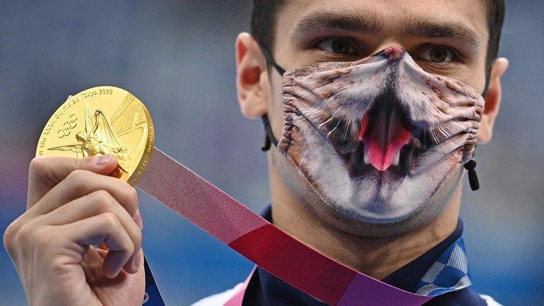 Евгений Рылов— абсолютный чемпион Олимпиады вплавании наспине! Фото AFP