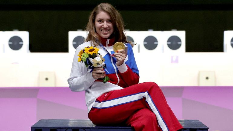 Виталина Бацарашкина— два золото Токио встрельбе! Фото Reuters
