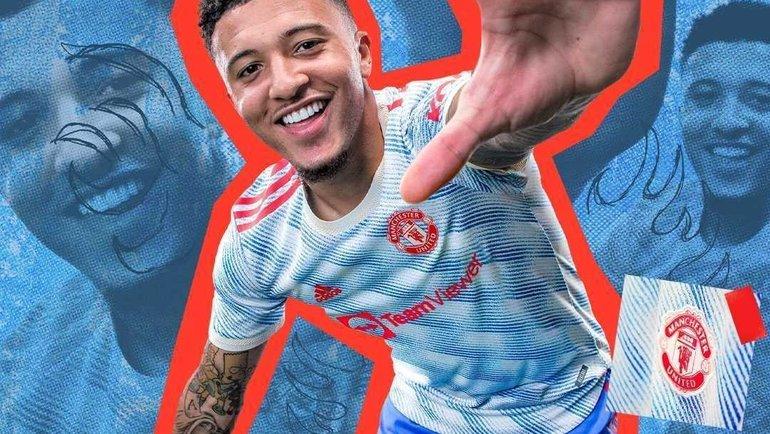 Джейдон Санчо вновом гостевом комплекте формы «Манчестер Юнайтед». Фото Instagram