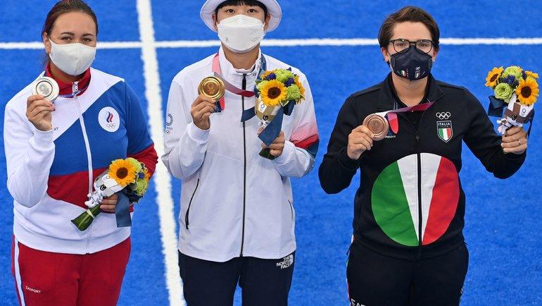 Елена Осипова (слева). Фото AFP