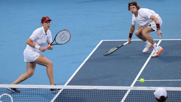 Анастасия Павлюченкова иАндрей Рублев. Фото Getty Images
