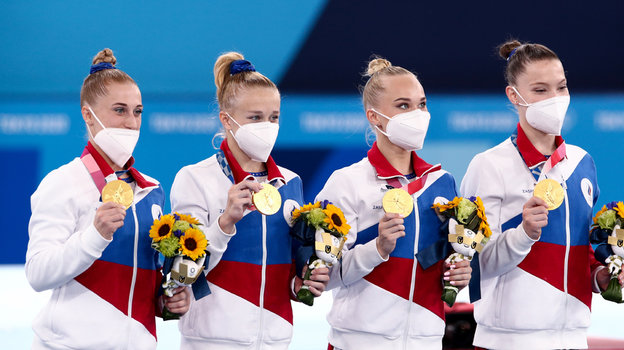 Российские гимнастки взяли золото Токио-2020 вкомандном многоборье. Фото Дарья Исаева, «СЭ» / Canon EOS-1D X Mark II