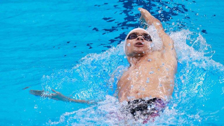 Евгений Рылов (золото)— плавание, дистанция 200 метров наспине.