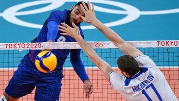 30июля. Токио. Россия— Франция— 1:3. Ватаке лидер сборной Франции Эрвин Нгапет.