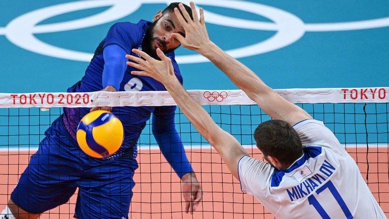 30июля. Токио. Россия— Франция— 1:3. Ватаке лидер сборной Франции Эрвин Нгапет. Фото AFP