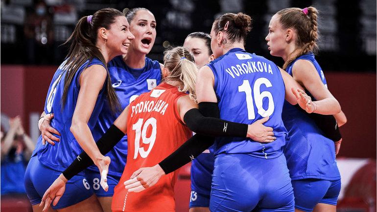 Женская сборная России обыграла США наОлимпиаде ивышла вплей-офф. Фото volleyballworld.com