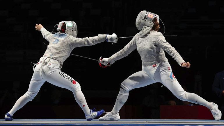 Российские саблистки вышли вфинал Олимпийских игр вкомандном первенстве. Фото Getty Images