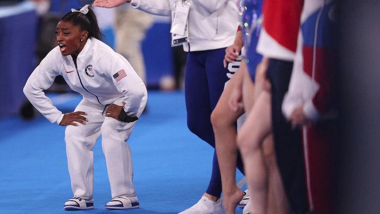 Симона Байлз снялась сОлимпийских игр вТокио. Фото Getty Images