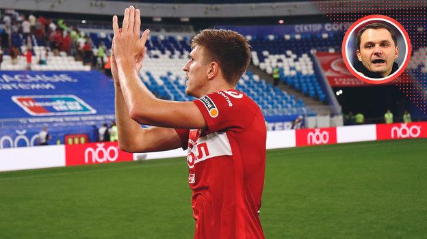 Андрей Кобелев— опоражении волжан вматче 2-го тура РПЛ (0:1).