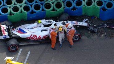 Мик Шумахер попал ваварию вконце третьей практики «Гран-при Венгрии»