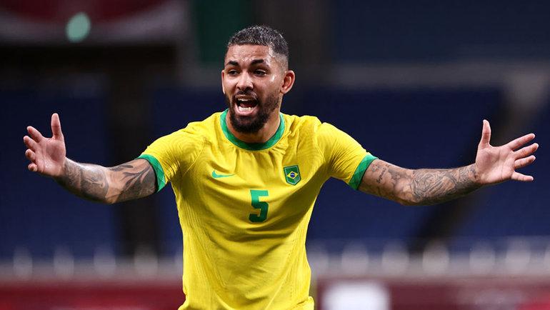 Сборная Бразилии победила Египет в четвертьфинале мужского футбольного турнира на Олимпиаде в Токио — 1:0. Фото Getty Images