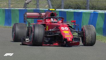 Сайнс разбил машину вквалификации «Гран-при Венгрии»