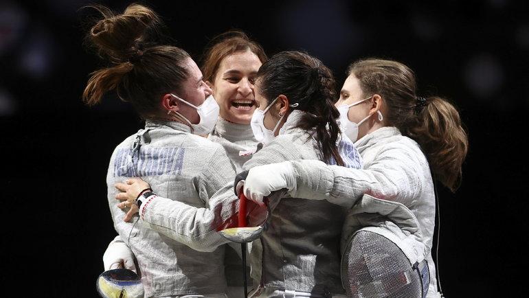 31июля. Токио. Российские саблистки выиграли золото Олимпиады. Фото Reuters