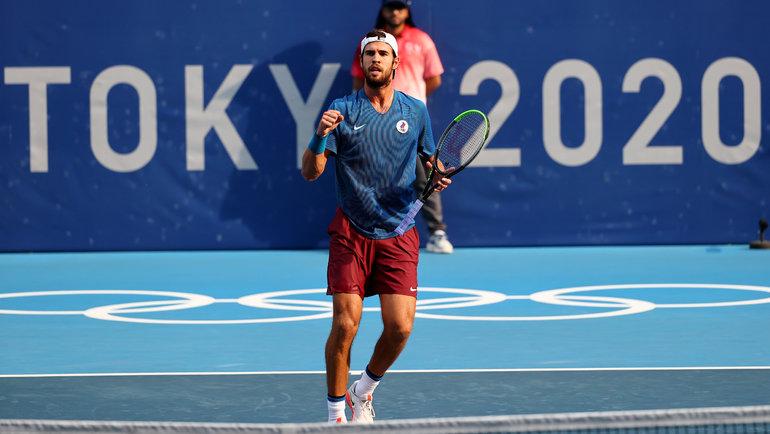 Олимпиада-2020 вТокио: Карен Хачанов сыграет вфинале теннисного турнира. Фото Reuters