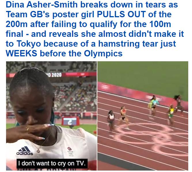 Дина Эшер-Смит несмогла попасть вфинал на100-метровке Олимпиады.