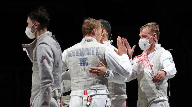 Российские фехтовальщики. Фото Getty Images