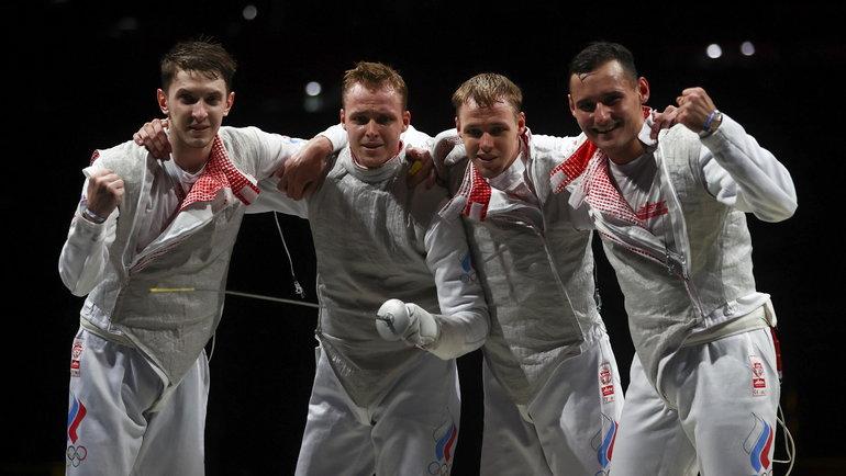 Мужская сборная России пофехтованию. Фото Reuters