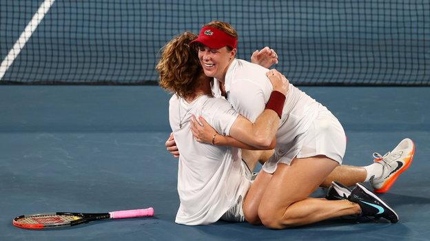 Анастасия Павлюченкова иАндрей Рублев— олимпийские чемпионы Токио-2020 вмиксте. Фото Reuters