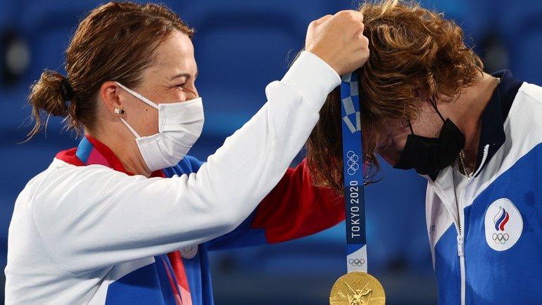 Анастасия Павлюченкова иАндрей Рублев. Фото Reuters