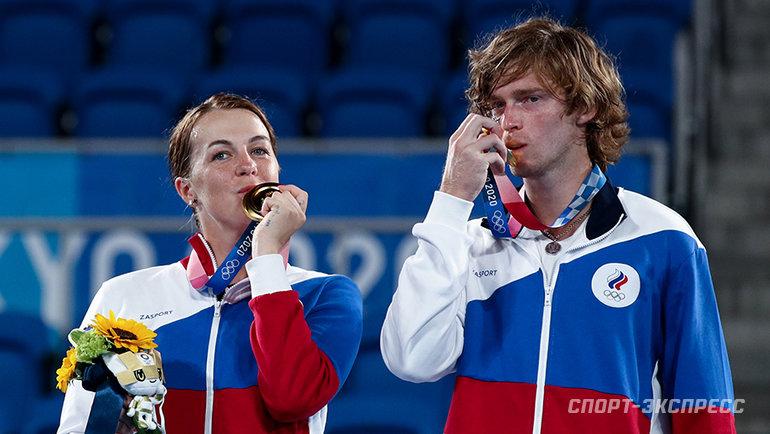 Анастасия Павлюченкова и Андрей Рублев. Фото Дарья Исаева, «СЭ» / Canon EOS-1D X Mark II