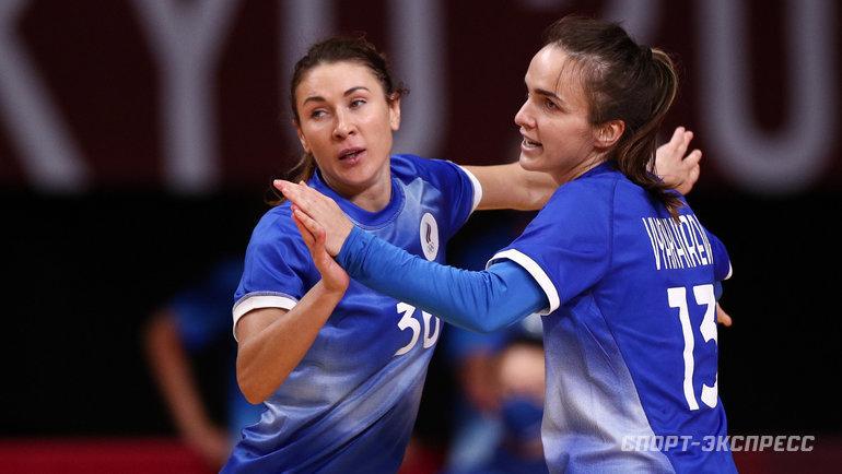 Российские гандболистки обыграли Испанию ивышли вплей-офф Олимпийских игр. Фото Дарья Исаева, «СЭ» / Canon EOS-1D X Mark II
