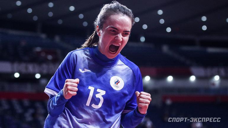 2августа. Токио. Испания— Россия— 31:34. Анна Вяхирева.