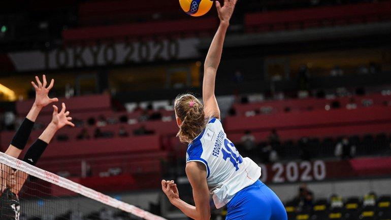 Женская сборная России поволейболу проиграла Турции наОлимпиаде вТокио. Фото AFP