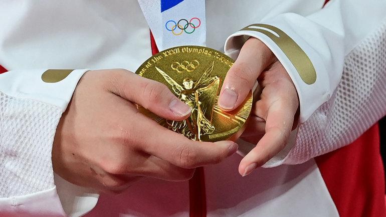 Золотая медаль Олимпийских игр. Фото AFP