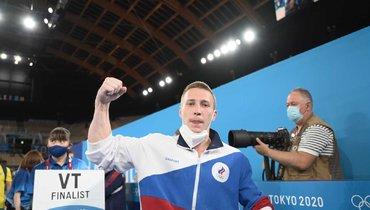 Российский гимнаст Аблязин завоевал серебро Олимпиады вТокио вопорном прыжке