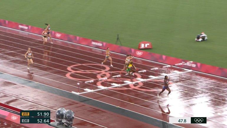 Соревнования полегкой атлетике наОлимпиаде вТокио были приостановлены из-за дождя. Фото Twitter