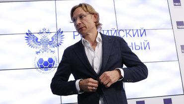 Валерий Карпин напрезентации всборной России 26июля.