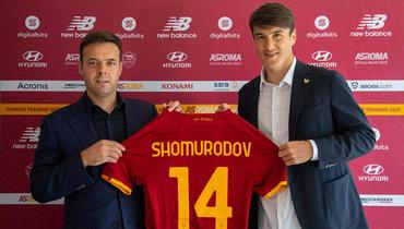 Нападающий Элдор Шомуродов (справа) стал игроком «Ромы». Фото Twitter