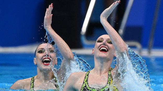 Светлана Колесниченко и Светлана Ромашина. Фото AFP