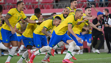Футболисты сборной Бразилии. Фото AFP