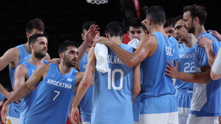 Баскетболисты сборной Австралии. Фото AFP