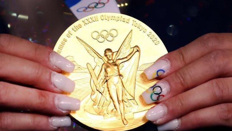 Золотая медаль Олимпиады-2020 вТокио (Япония). Фото Instagram